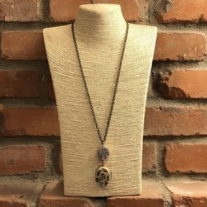 Jewelry - Druzy Cloisonné Necklace